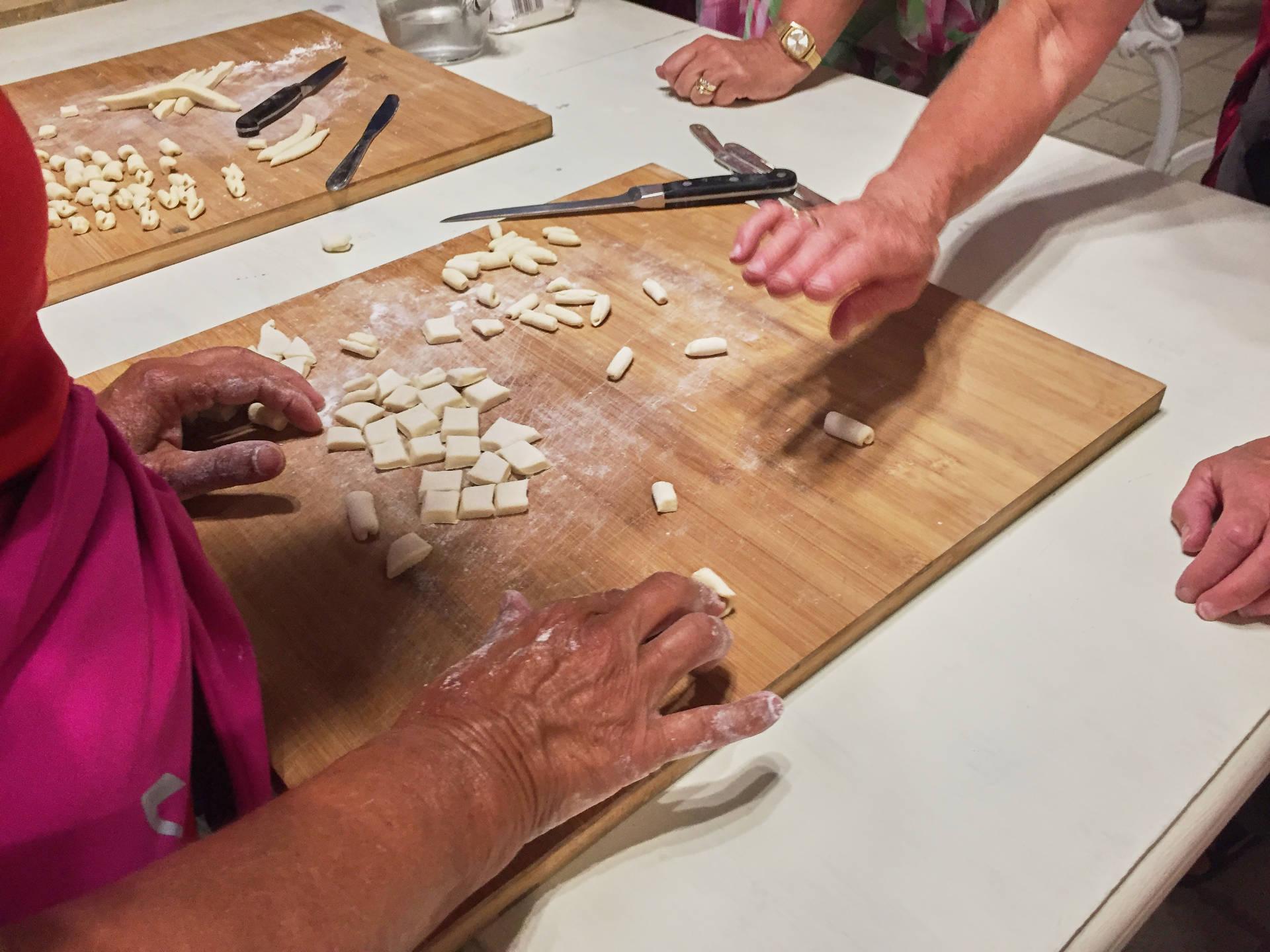 cavatelli molise cooking class