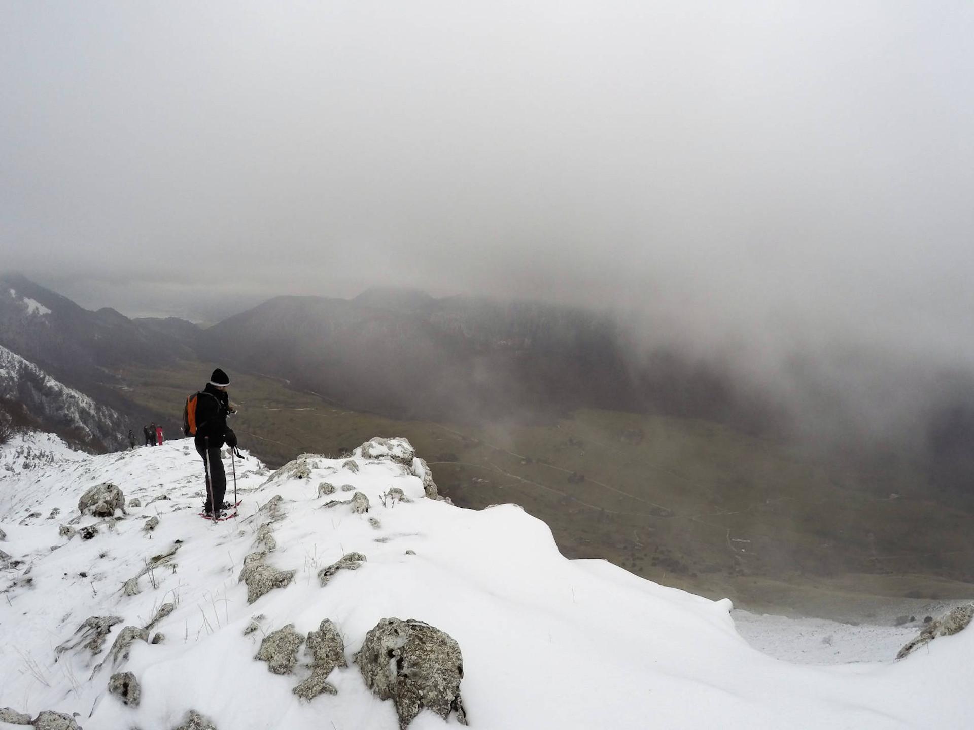 snowshoeing la precia roccamandolfi isernia molise