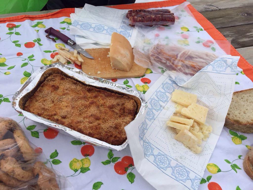 italian typical food molisani cheese and sausage
