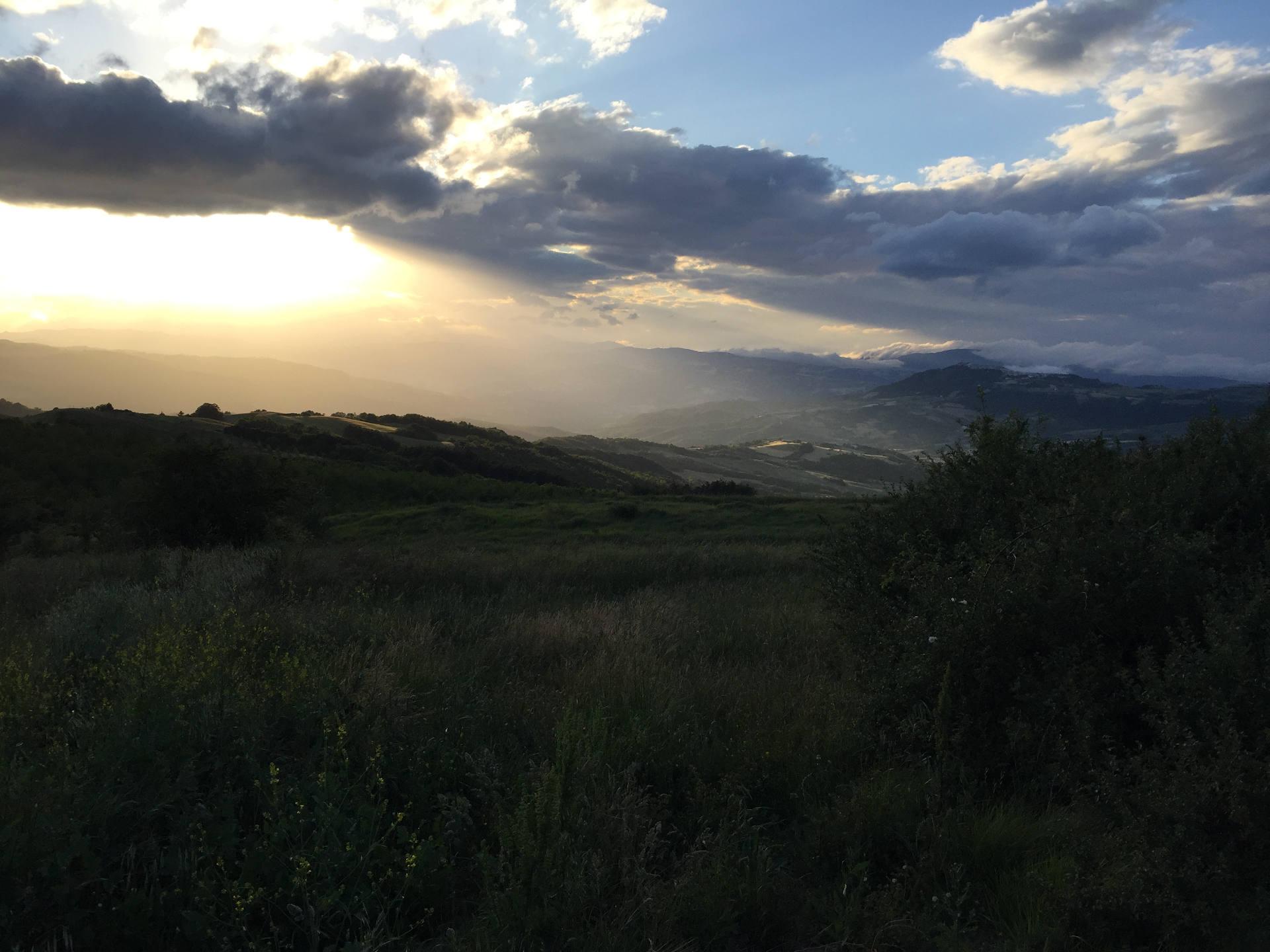 panorama molise tramonto